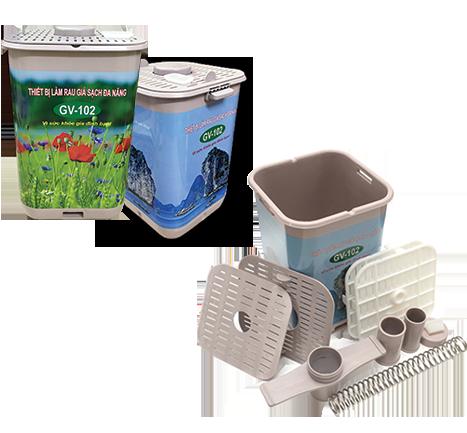 thiết bị làm rau giá sạch đa năng GV – 102 phiên bản tự động vuông